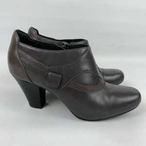 Clarks Bendables Ruby Edge Gray Ankle Booties 7W